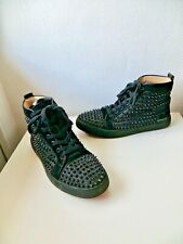 CHAUSSURES CHRISTIAN LOUBOUTIN BASKETS LOUIS SPIKE 41,UK7 SNEAKERS daim noir