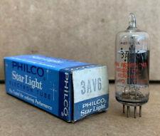 PHILCO 3AV6 VINTAGE ELECTRON TUBE ( STARLIGHT ) VACUUM TUBE