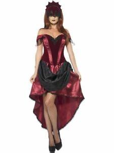 Femmes Gothique Vénitien Tentatrice Sexy Vampire Costume Halloween Déguisement