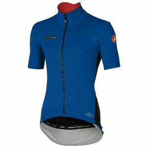 Castelli Mens Perfetto Light Windstopper Cycling Jersey - Surf Blue 4516045 057