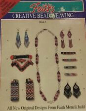 Creative Bead Weaving Patterns Faith Monell Judd Jewelry Earrings Pins 1992