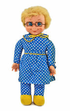 "Vintage 1967 Mattel Family Affair Mrs Beasley 21"" Cloth Doll with glasses & tag"