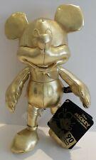 Disney store mickey mouse plush gold beanie 90th birthday soft toy