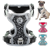 Dog Harness No-pull Pet Harness Adjustable Reflective Oxford Vest for Large Dogs
