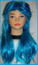 Blue MULLET WIG Novelty Sport Supporters Carnival NSW Fancy Dress Costume Party