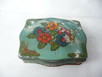George W. Horner & CO LTD Tin box Vintage rust and scratches flowers