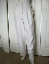 WMNS 4 / 6 WHITE LINEN PANTS W/ LINING by CLIFFORD & WILLIS