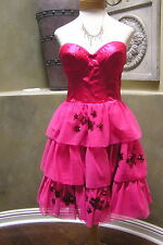 NWT $468 Betsey Johnson prom party cocktail ball gown Bustier corset dress 8