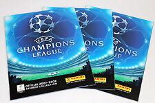 Panini UEFA Champions League 2007/2008 07/08 - 3 X en blanco del álbum Empty álbum Mint!