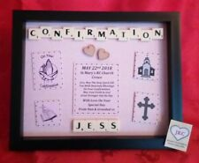 PERSONALISED CONFIRMATION GIFT PICTURE FRAME KEEPSAKE BOY GIRL CHRISTIAN