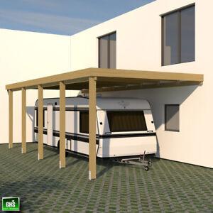 Anbau Carport 4x9 für Wohnwagen + Wohnmobil, Schneelast 98 Kg/qm