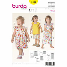 Burda Kids Easy SEWING PATTERN 9435 Baby/Toddlers Dress,Jumpsuit,Top,Shorts