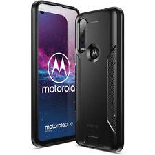 Motorola Moto P40 Power Case,Poetic Soft Black TPU Shockproof Protector Cover