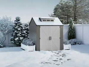 Rubbermaid 7x7 Ft Durable Weather Resistant Resin Outdoor Storage Shed
