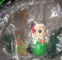Disney Santa Micky Mouse Under The Christmas Tree Decorations Sealed Very Rare