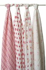 Aden + Anais Muslin Swaddle Baby Blanket Breathable Classic 100% Cotto Muslin 4k