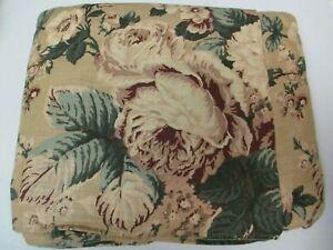 Ralph Lauren BUCKS COUNTY Floral Neutral Ruffled Bedskirt - Full