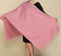 New Fashion Women's Pure Color 100% Cashmere Pashmina Scarf Wrap Shawl Stole