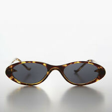 d4ad65b410d Slim Small Frame Oval Retro Cat Eye Sunglass Golden Tortoise - Selena