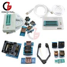 TL866II Plus TL866CS Programmer USB EPROM EEPROM 7 Adapters Socket Extractor