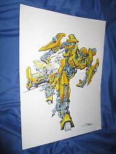 BUMBLEBEE Original Art Painting by Jose Delbo (Transformers/Full Color/Marvel) Comic Art