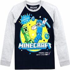 Minecraft Long Sleeve T-Shirt | Boys Minecraft Top | Kids Minecraft Tee