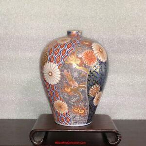 Beautiful Japanese 19thC Meiji Imari Fukagawa Koransha Porcelain Meiping Vase