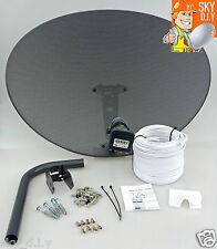 Freesat / Sky 80cm zone 2 satellite dish & quad lnb + 10m twin White install kit