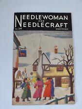 VINTAGE NEEDLEWOMAN & Needlecraft Magazine N. 24 Lavoro a Maglia Motivo Da Cucire TFR Inc