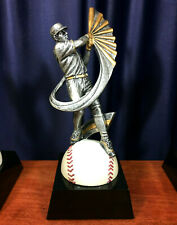 "Blank Baseball Player Swinging Bat Trophy, 7.375"" tall, Lot of 5"