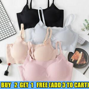 Women Sports Sleep Non-Wired Bra Ladies Comfort Seamless Underwear Full Cup Bra
