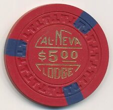 Cal Neva Lodge Lake Tahoe 11th Edition $5 Chip 1955 Red T Mold
