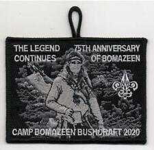 Camp Bomazeen 75th anniversary 2020 Bushcraft program Patch.  Benefit listing
