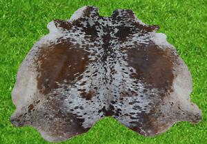 """New Cowhide Rug Hair On COW HIDE Area Rug(75"""" x 66"""")Animal Carpet 34.4 SF SM1745"""
