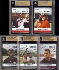 ALBERT PUJOLS - 5 Card Set - 2004 Just *BECKETT SLABBED* Uncirculated!  #'d /50