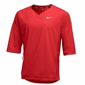 New Nike Men's L 3/4 Sleeve Hot Jacket Baseball Perforated Lightweight 897383