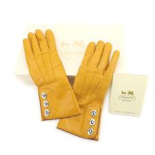 Auth COACH Glove Turn Lock Hardware Ladies used L866