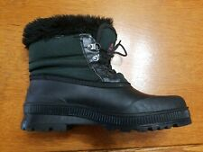 Sorel Kaufman Canada Women's short ankle pack boots w liners Dark Green sz 10