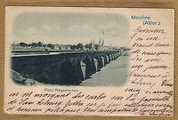 Cpa Auvergne Moulins Allier - pont Régemortes wn0207