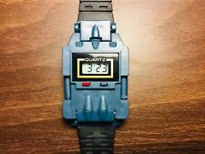 Transformer Watch Blue Starscream Fighter Jet NEW BATTERY TESTED Vintage A1