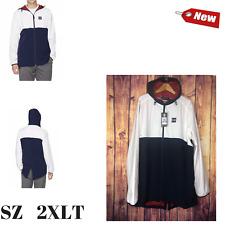 UNDER ARMOUR Men's Sportstyle Fishtail Jacket White/Navy Size 2XLT 1299147-100