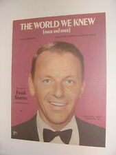 Frank Sinatra The World We Knew Over and Over 1967 sheet music Bert Kaempfert
