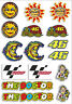 A4 Sheet of ROSSI Biker Stickers Decals Vinyl Laptop Sticker Bomb Moto GP #6153