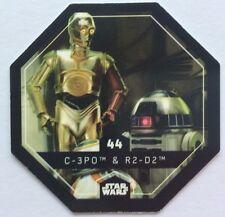 STAR WARS Jeton 44 C-3PO R2-D2 Droide Cosmic Shells E.Leclerc Collector Image