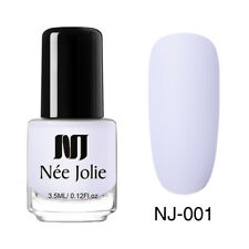 NEE JOLIE 3.5ml Matte Nail Polish Pure Tips Purple Green Black Nail Art Varnish