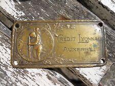 Ancienne plaque st Christophe Crédit Lyonnais Auxerre