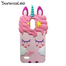For LG Stylo 3 / Stylo 3 Plus 3D Cartoon Case Unicorn Soft Silicone Phone Cover