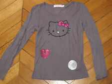 HELLO KITTY Super tee-shirt gris foncé 10 ans
