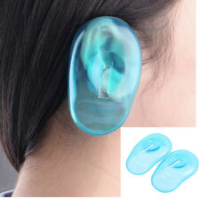 2 Pcs Hair Dye Shield Ear Cover Clear Silicone Protector Hair Colouring Salon