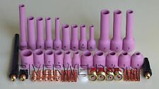 TIG Gas Lens Collet Body Assorted Size Fit TIG Welding Torch SR WP9 20 25,46pcs